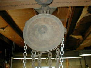 Vintage Chain Hoist And Push Trolley