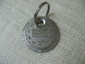 Vintage Champion Spark Plug Taper Gap Gauge Tool Ct 481 Made In Usa Key Chain