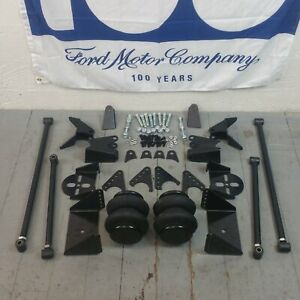 67 79 Ford Truck Triangulated Rear Suspension Four 4 Link Air Ride Kit Gt 5l 390