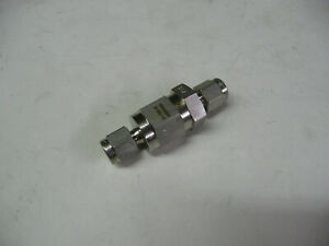 New Swagelok 1 8 Tube 1 3 Psi One Way Check Valve Ss chs2 1 3 Stainless Steel