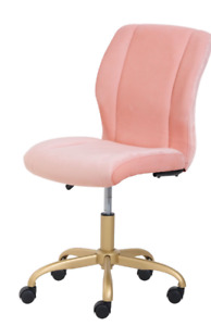 New Girl s Blush Office Chair Swivel Rolling Computer Desk Seat Adjustable Hight
