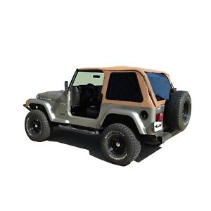 Rampage 109517 Frameless Soft Top Kit Fits 1997 2006 Jeep Wrangler And Tj