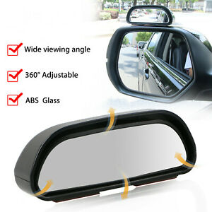 2pcs Universal Blind Spot Mirror Wide Angle Rear View Car Side View Adjustable
