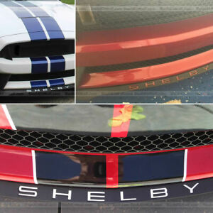 Dkm White Front Spoiler Letter Inserts For Shelby Gt350 2015 2018 Not Decals