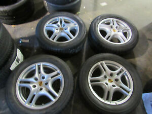 Porsche Cayenne 5 Double Spoke 67352 18 Inch Wheels And Snow Tires