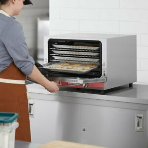 New 1 2 Size Commercial Stainless Steel Countertop Electric Convection Oven