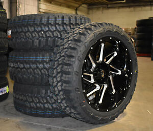 22x10 Vision 361 Spyder Black Wheels Rim 33 Mt Tires 8x170 Ford Excursion