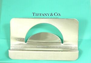 Authentic Tiffany Co Sterling Silver Office Desk Business Card Holder