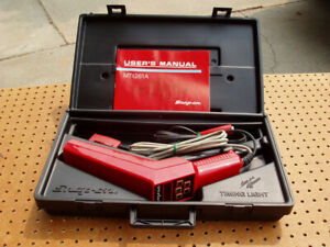 Snap On Computerized Tach Advance Timing Light Mt 1261a Manual Case Decent