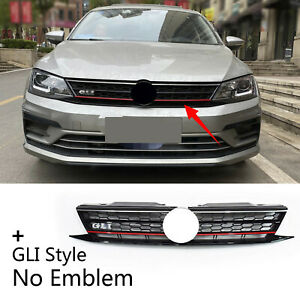 Fit For 2015 2017 Vw Jetta Facelift Gli Style Front Bumper Center Upper Grille
