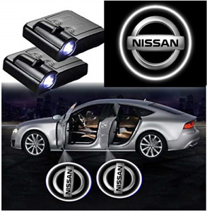 2x Wireless Led Car Door Logo Projector Puddle Courtesy Ghost Light Fits Nissan