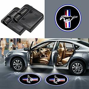 2x Wireless Led Car Door Logo Projector Courtesy Ghost Puddle Light Fits Mustang