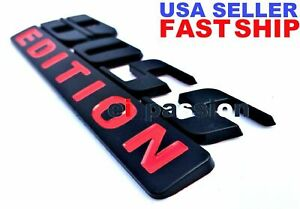Boss Edition Black And Red Fit All Cars Logo Custom Emblem Letters High Quality Fits 1950 Ford