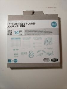 Letterpress Plates Journaling We R Memory Keepers New 14 Pcs