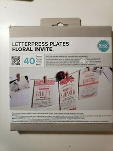 Letterpress Plates Floral Party Invite We R Memory Keepers New 40 Pcs