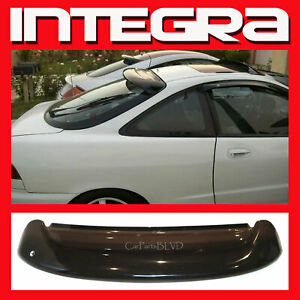Fits 1994 2001 Integra 2 Door Rear Roof Window Visor Spoiler Wing With Brackets