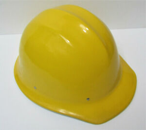 Nos Unused Original Yellow Bullard 502 Aluminum Hard Boiled Hard Hat Ironworker