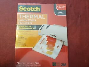3m Scotch Thermal Laminating Pouches For Home Office Or School 25 Pack
