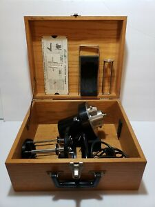 Brookfield Synchro lectric Rvf 100 Viscometer With Spindles And Wooden Case