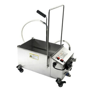 Used 40l 10 56 Gallon Mobile Fryer Filter Commercial Oil Filtration System 300w
