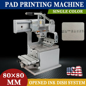 Single color Manual Pad Printing Machine Pad Printer With Opened Ink Dish System