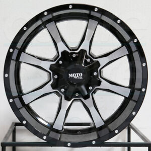 4 new 17 Moto Metal Mo970 Wheels 17x8 5x5 5x5 5 0 Black Machine Rims 78 3 Mags
