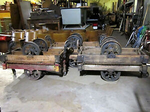Antique Furniture Factory Cart industrial Railroad coffee Table Lineberry