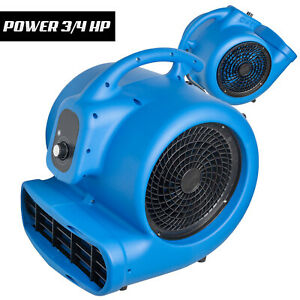 Nht 3 4hp Utility Floor Fan Air Mover For Garage Workshops Floor Drying
