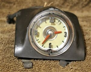 1949 52 Oldsmobile Dashboard Clock Ex Condition Nos By Borg Co 554054 6