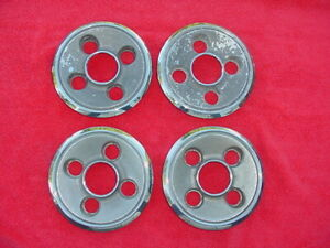 4 Used Mopar Dodge Plymouth Rally Wheel Center Caps All Metal 4 5 Bolt