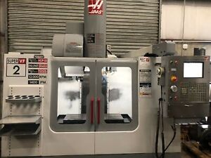 Haas vf 2ss Cnc Vertical Machining Center 2005 Prewired 4th Hsm gmt 2486