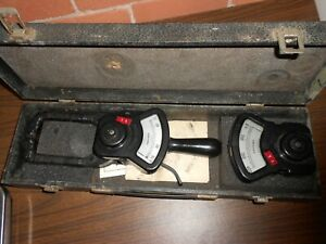 Vintage Columbia Electric Tong Test Amperes Kit With Case