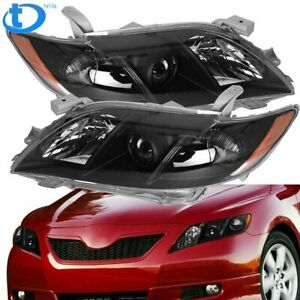 Black Projector Headlights Headlamp Assembly L r For 2007 2008 2009 Toyota Camry
