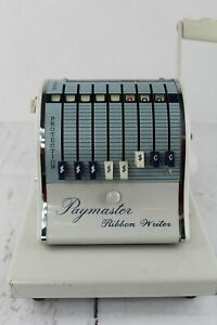 Vintage Paymaster Check Writer Series 8000 With Key And Cover Ribbon Works
