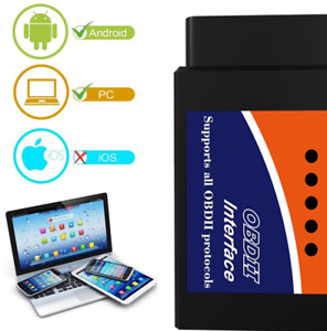 For Android Pc Bluetooth Obd2 Reader Car Diagnostic Code Scanner Diagnose Tool