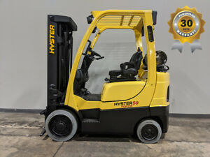 2017 Hyster S50ft 5000lb Smooth Cushion Forklift Lpg Lift Truck Hi Lo 83 189