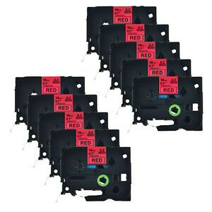 10pk 3 4 Tz441 Black On Red Label Tape Tze441 18mm For Brother P touch Pt 2730