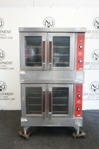 Vulcan Double Stack Natural Gas Convection Oven Model Vc6cd bakers Depth