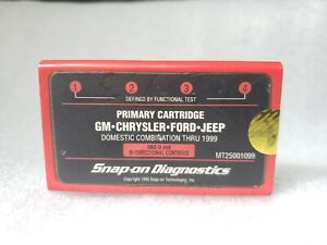 Snap On Mt25001099 Primary Cartridge Gm Chrysler Ford Jeep Domestic Thru 1999