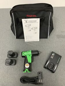 Snap on Ct761ag 3 8 Drive 14 4v Microlithium Cordless Impact Wrench Kit Green
