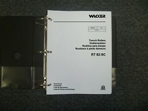 Wacker Rt82sc Vibratory Trench Roller Compactor Parts Catalog Manual Book 9025