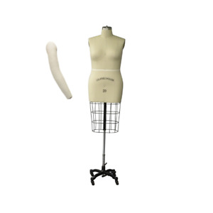 Pro Female Half Body Dress Form With Collapsible Shoulders Size 24