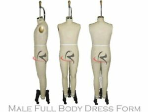 Professional Male Full Body Dress Form arm Included Size 38