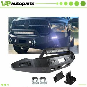 For 2013 2018 Dodge Ram 1500 Front Bumper Guard Winch Durable Steel Black