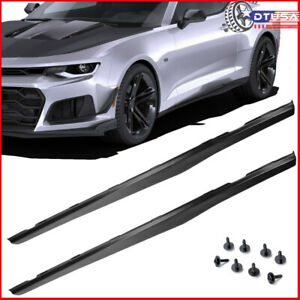 Resilient Pp Unpainted Matte Side Skirts Rocker Panels For Chevy Camaro 2010 15