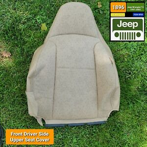 Front Left Seat Upper Cushion Cover Camel For 2001 Jeep Wrangler Tj Oem F S