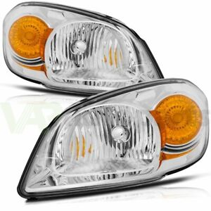 For 2005 2010 Chevy Cobalt Headlight Assembly Front Light Pair Left Right