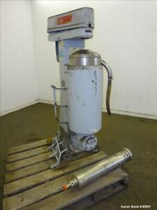Used Sharples Super Centrifuge Model Mv26rr 210g 1h A286 Stainless Steel Con