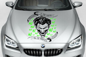 Joker Batman Decal Vinyl Graphic Hood Side Car Truck