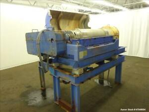 Used Sharples P 3400 Super d canter Centrifuge 316 Stainless Steel Constructio